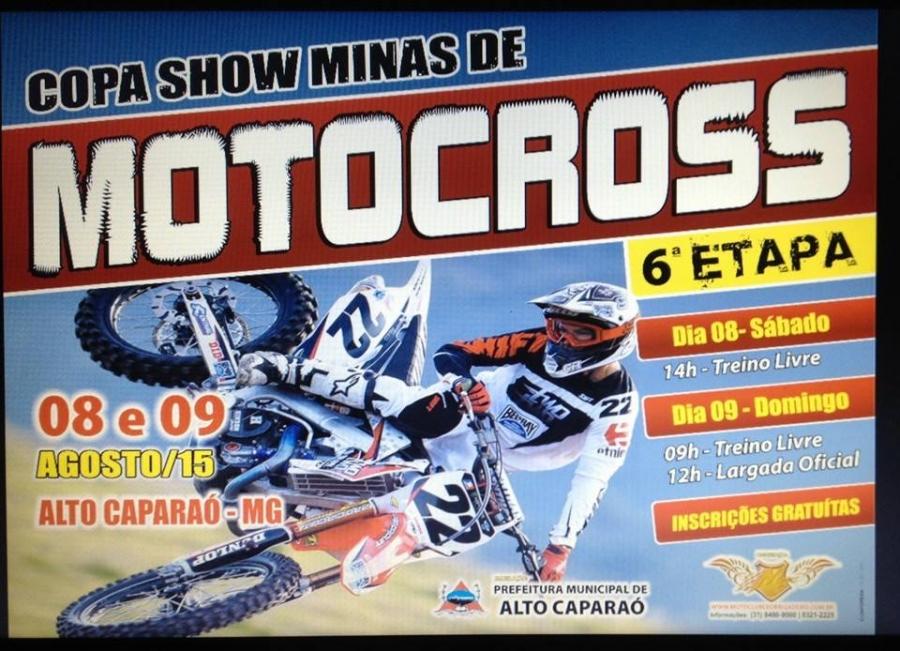 6ª Etapa da Copa Show Minas de Motocross será realizada em Alto Caparaó